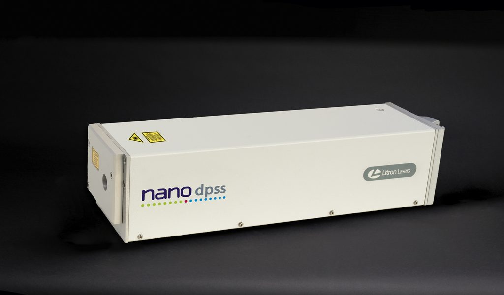 nano dpss laser head dark background small